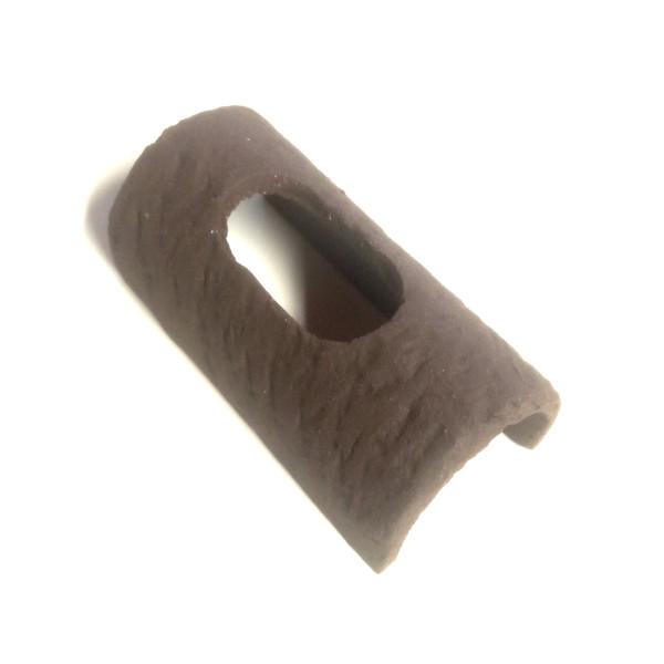 Wurzelversteck aus Ton dunkelbraun