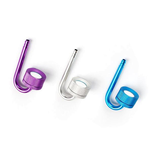 Co2 Edelstahl Diffusor Color Lila Blau Silber