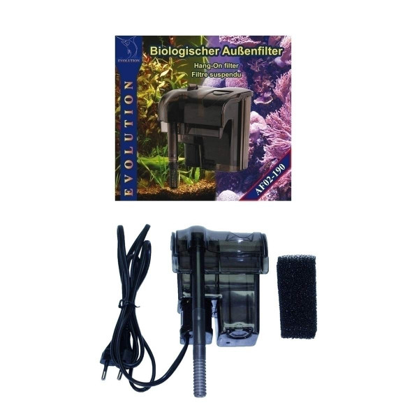 Nano Bio Hang-on Filter von SMF Aquaristik Evolution mit Schwamm