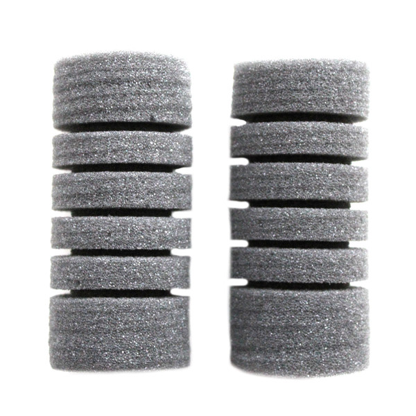 2 runde Filterschwämme als Ersatz für einfache doppelte Schwammfilter